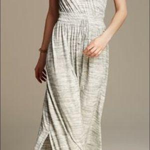 Banana Republic Grey Knit Patio Maxi Dress